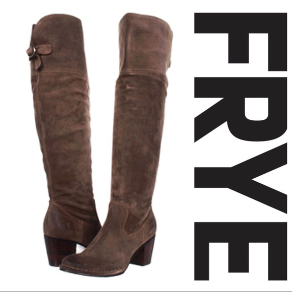 65d89a84fa5 Frye Shoes - Frye Lucinda Slouch Suede Over the Knee Boot